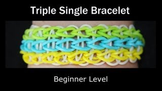 Rainbow Loom® Triple Single Bracelet