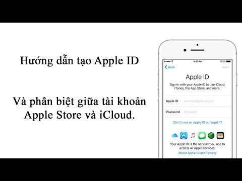 V Channel | Chia sẻ | Hướng dẫn | Cách tạo Apple ID | Phân biệt tài khoản Apple Store và iCloud.
