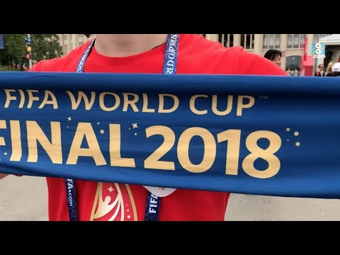 Así se vivió el ambiente afuera del estadio Luzhnikí previo a la final del Mundial de Rusia 2018