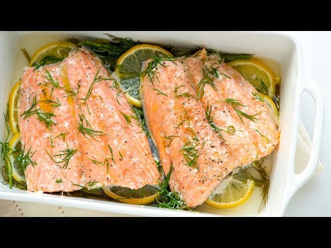Perfectly Baked Salmon Recipe with Lemon and Dill - How to Bake Salmon
