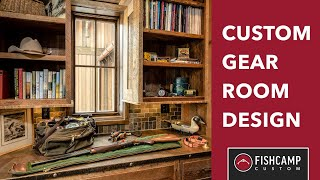 Custom Gear Room Design | Hunting And Fishing Gear Room | Fishcamp Custom | Montana