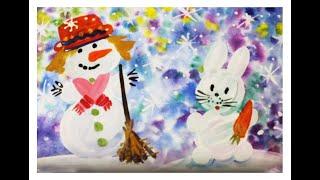 Смотреть онлайн Урок рисования красками для детей 4-6 лет