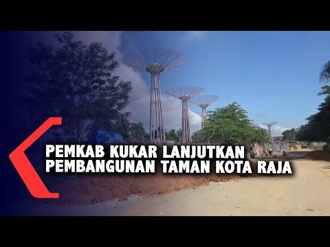 pemkab kukar lanjutkan pembangunan taman kota raja