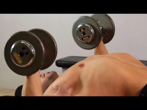 Exercise Ball Dumbbell Bench Press