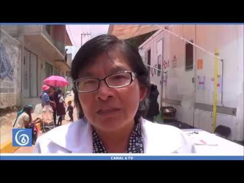Jornada de salud en la colonia Melchor Ocampo por ISEM y dirección de salud municipal