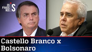 De casa, onde está há 11 meses, Castello Branco alfineta Bolsonaro