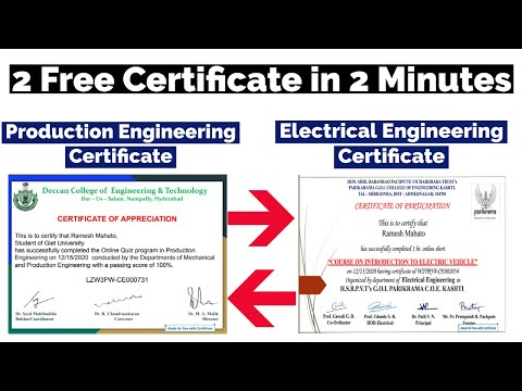 Electrical Engineering - 2 Free Certificate in 2 Minutes - YouTube