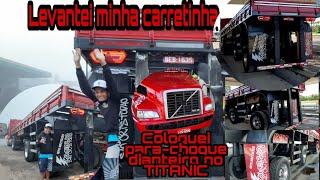 LEVANTADO MINHA CARRETINHA + COLOCANDO PARA-CHOQUE DIANTEIRO DO TITANIC 🚢🚢
