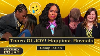 Tears Of JOY! Happiest Reveals On Paternity Court (Compilation) | Paternity Court