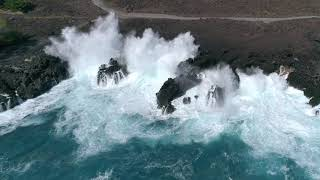 Giant End Of The World Waves In Keauhou Hawaii DJI drone footage