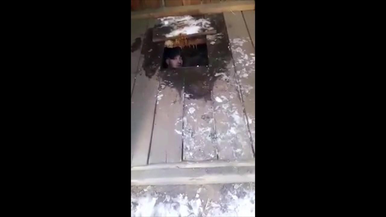 Убегая с места ДТП водитель Лексуса упал в туалет