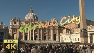 preview picture of video 'Walking from Vatican City to Trevi Fontain, Rome - Italy 4K Travel Channel'