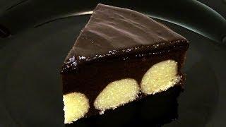 Шоколадный пирог с творожными шариками. Подробный рецепт.