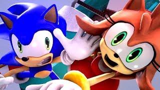 SONIC AND AMY'S WINTER SLEIGH DATE!! - Sonic Animation SFM 4K | Sasso Studios