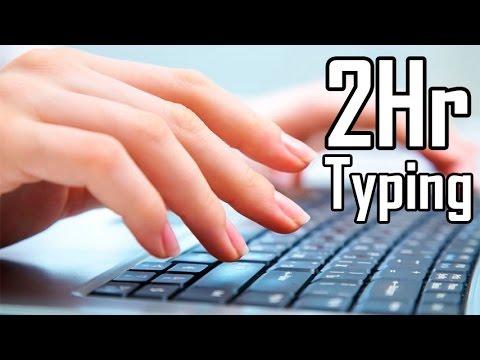 Keyboard Typing Sound 2 hours   Sonido de persona tecleando en computadora 2 horas