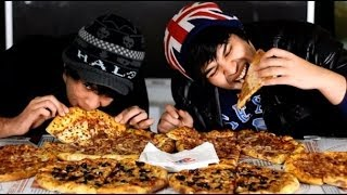 Dominos Pizza Eating Competition!