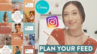 HOW TO PLAN YOUR INSTAGRAM FEED USING CANVA | Why I don't use planning or scheduling apps!