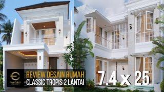 Video Desain Rumah Classic 2 Lantai Bapak Riko di  Bekasi, Jawa Barat