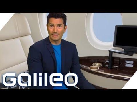 First Class Flug für 250 Euro statt 20.000 Euro: Reisen wie die Superreichen | Galileo | ProSieben
