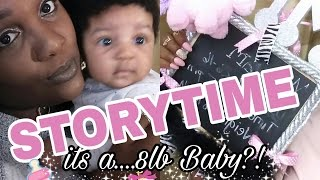 STORYTIME| How to have an 8lb BABY , natural!!! No meds, home laboring