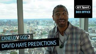David Haye gives his prediction for the winner of Canelo v GGG 2