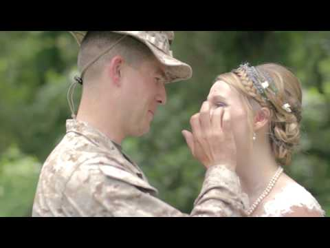 Marine Surpises his sister on her wedding day