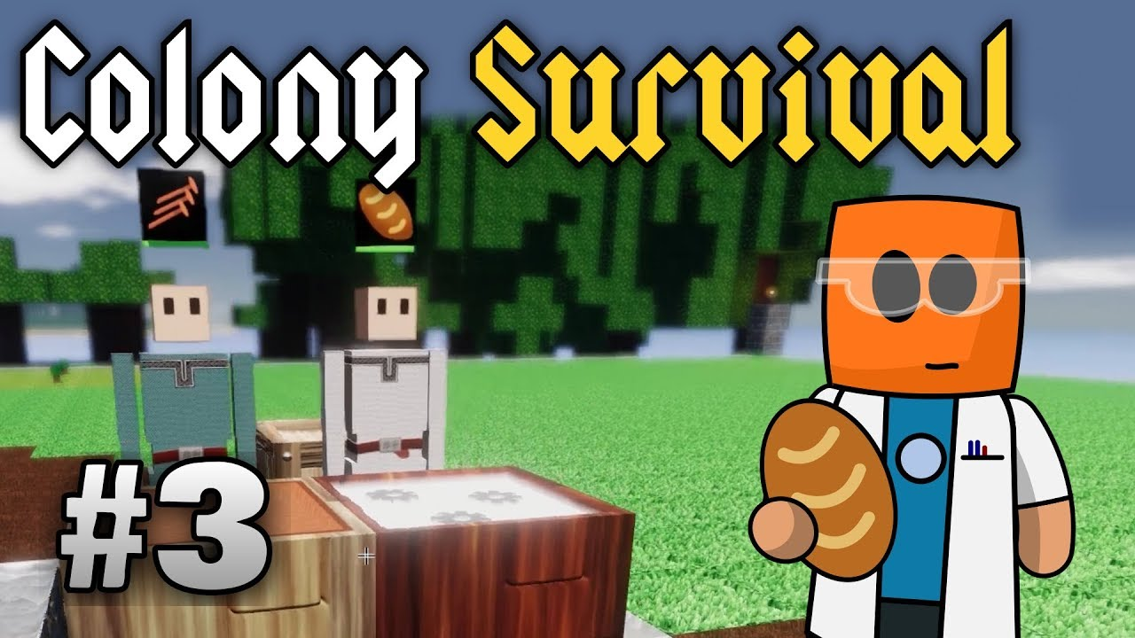 Colony Survival ep3 | Science and workbench automation