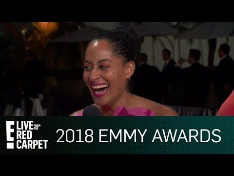 , title : 'Tracee Ellis Ross Crashes E!'s Emmys After-Party | E! Live from the Red Carpet'