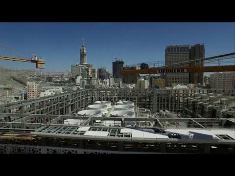 العرب اليوم - شاهد: التقنية المستخدمة في الحرم المكي لحمايته من انتشار الفيروسات
