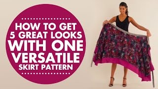 Wrap, Twist & Tie: How To Get 5 Great Looks With One Versatile Skirt Pattern