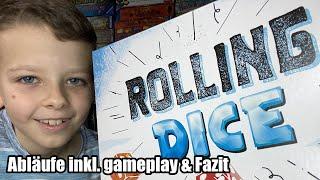 Rolling Dice (ABACUSSPIELE) - Familienspiel mit vielen Würfel und einer XXL Schachtel - ab 8 Jahren