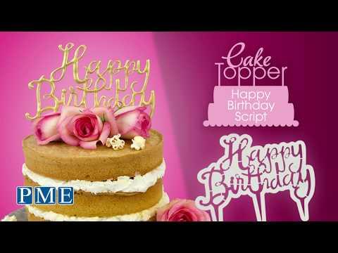 PME Cake Topper Cutter Happy Birthday