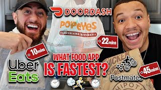We TESTED What FOOD DELIVERY App DELIVERS The FASTEST!? (UBER EATS vs DOORDASH vs POSTMATES)