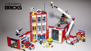 Lego City 60110 Fire Station Speed Build