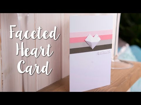 How to Make Simple Geometric Hearts for Cards!