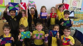 Year three make maritime flags