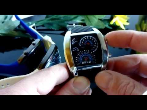 OROLOGIO CRUSCOTTO DA POLSO DIGITALE A LED SPORT UOMO DONNA CINTURINO FON 1032