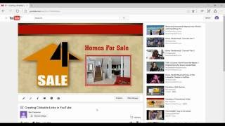 How to Put Clickable Links in your Youtube Channel and Videos? the Easy Way