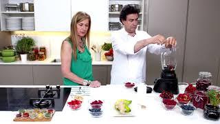 Come bien y disfruta con Pepe Rodríguez y HLA. Batido de frutos rojos.