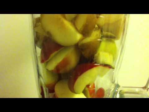 Apfel-Birnen Smoothie selber machen - Frucht-Drink mixen