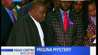 Miguna Miguna's lawyers at Milimani Law Courts demanding his release