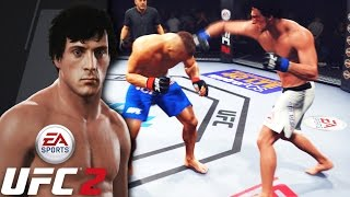 ROCKY BALBOA IS A MONSTER! Straight Head Hunting! EA Sports UFC 2 Online Gameplay