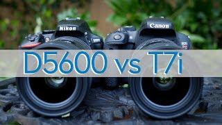 Hands-on Review - Canon T7i (800D) vs Nikon D5600