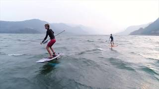 Foil Life: Spencer Brothers, Downwind SUP foil Session at the hatchery