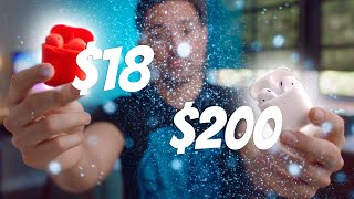 $18 Fake AirPods vs $200 AirPods 2!
