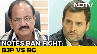 In Notes Ban Fight Rahul Gandhis 5 Questions For PM Modi Provoke 5 From BJP