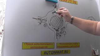 Круговой Перекресток с Опасными последствиями в Санкт- Петербурге.