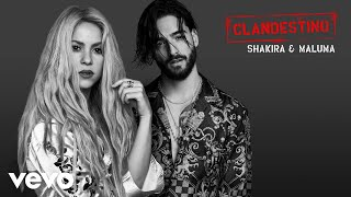 "Shakira & Maluma – ""Clandestino""  NUEVO SENCILLO ""Clandestino"" DISPONIBLE AHORA   iTunes: http://smarturl.it/ClandestinoiT  Apple Music: http://smarturl.it/ClandestinoA   Spotify: http://smarturl.it/ClandestinoS  Amazon Music: http://smarturl.it/ClandestinoAm  Google Play: http://smarturl.it/ClandestinoGP  ¡Elige tu plataforma de preferencia!: https://SML.lnk.to/Clandestino   SIGUE A ""Shakira"" EN:  Página web oficial: http://www.shakira.com  Facebook: http://www.facebook.com/shakira  Twitter: http://www.twitter.com/shakira  Instagram: http://www.instagram.com/shakira  SIGUE A ""Maluma"" EN:  Página web oficial: http://www.malumamusik.com  Facebook: http://www.facebook.com/MALUMAMUSIK  Twitter: http://www.twitter.com/maluma  Instagram: http://www.instagram.com/malumaoficial  YouTube: http://www.youtube.com/user/MalumaVEVO Official cover audio video by Shakira & Maluma performing Clandestino. (C) 2018 Sony Music Entertainment US Latin LLC"