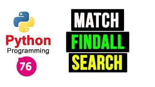 Python Programming Tutorial - Regular Expression | Match, Search, Findall Functions
