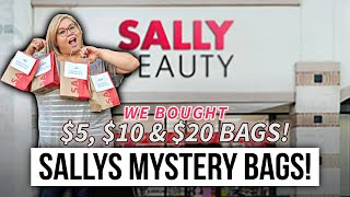 Sally Beauty Supply Mystery Surprise Bags Haul! *surprising unboxing!*